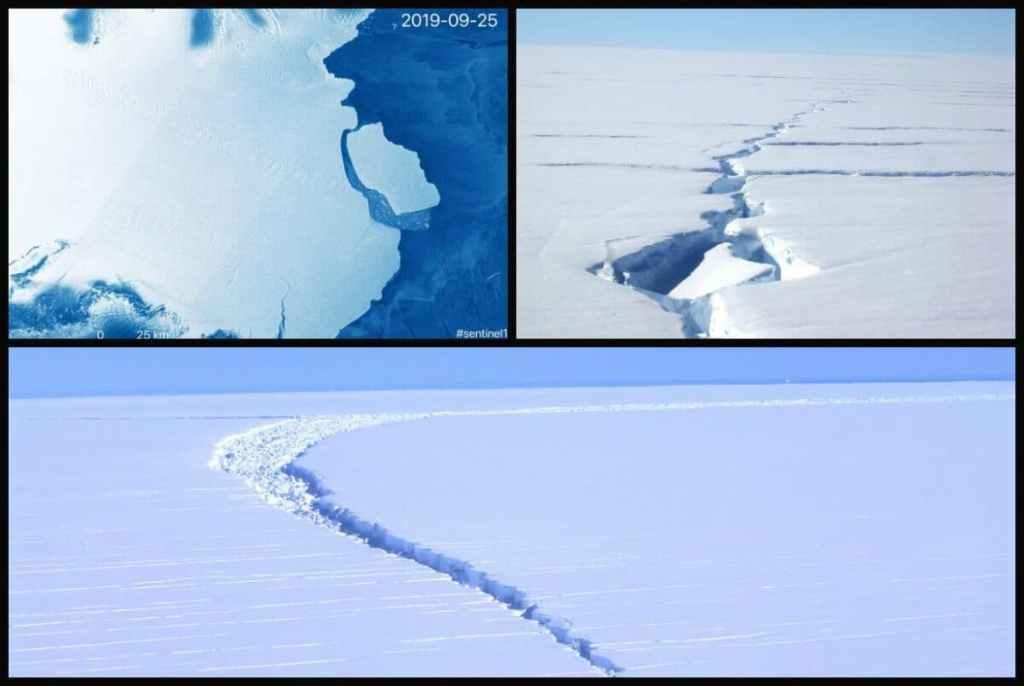 Desprendimiento de un Iceberg en la Antártida