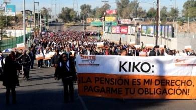 marcha snte maestros en Baja California