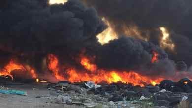 Photo of Así fue el incendio en una bodega de llantas