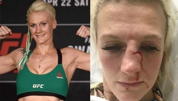 peleadora golpeada por su pareja