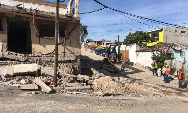 Demuelen viviendas en Tijuana