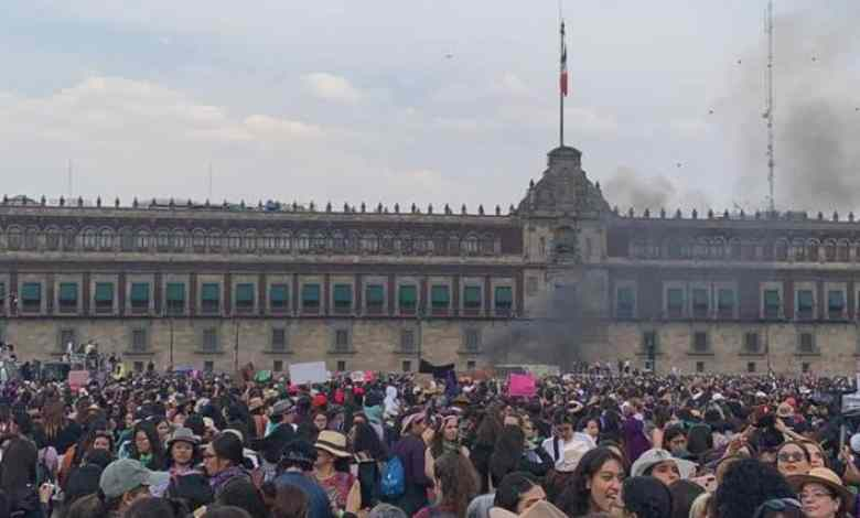 Marcha #8M en CDMX reúne a 80 mil mujeres