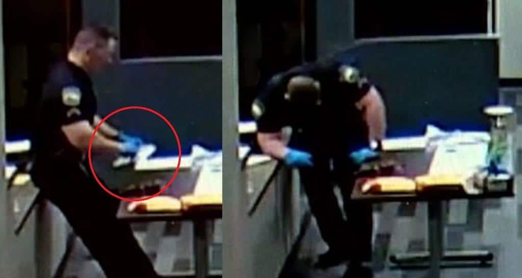 Policía se desploma a tocar droga callejera