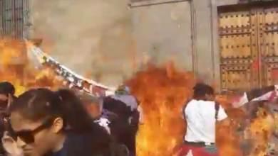 Photo of Habla fotógrafa que fue quemada con bomba molotov en marcha feminista