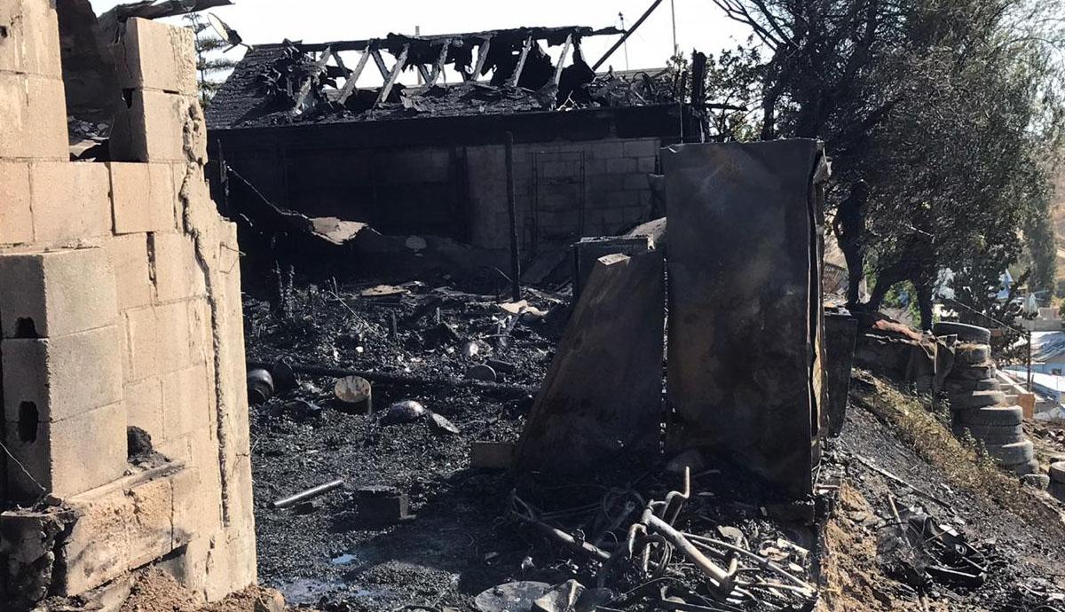 Cinco familias pierden sus casas tras incendio