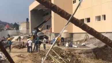 Photo of VIDEO: Derrumbe en construcción de hospital; hay varios lesionados