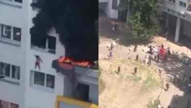 Photo of VIDEO: Niños saltan de edificio en llamas para salvar sus vidas