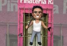 Photo of Ya está a la venta la piñata del ladrón golpeado en  combi