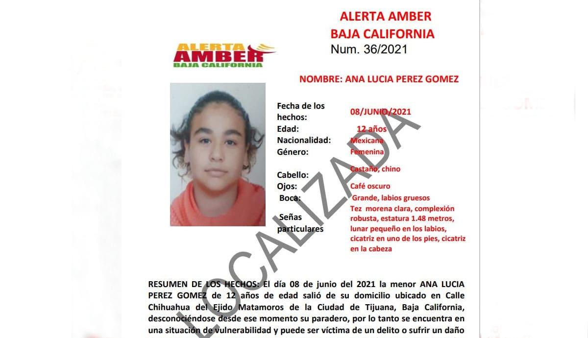 Cancelan-Alerta-Amber-Localizan-a-Ana-Lucia-Pérez-Gómez