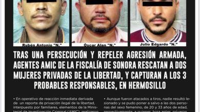 AMIC Sonora logró rescatar a dos mujeres secuestradas