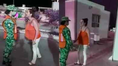 VIDEO-Mujer-insulta-y-cachetea-a-elemento-de-Guardia-Nacional
