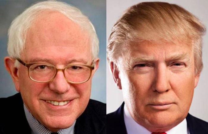De Donald Trump a Bernie Sanders, la cara oculta de Estados Unidos.