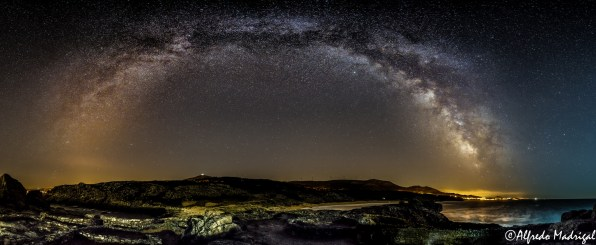 The sky in the Castro de Baroña