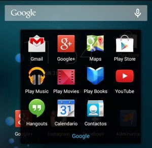Apps de Google en teléfono Android