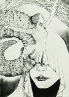 A Dance Inside My Abdomen by Alf Sukatmo. Pencil on paper.