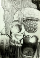 What Was Left Unspoken by Alf Sukatmo. Pencil on paper.
