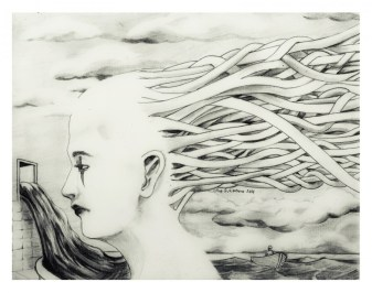 """Never Ending Story"" by Alf Sukatmo. Pencil on paper."