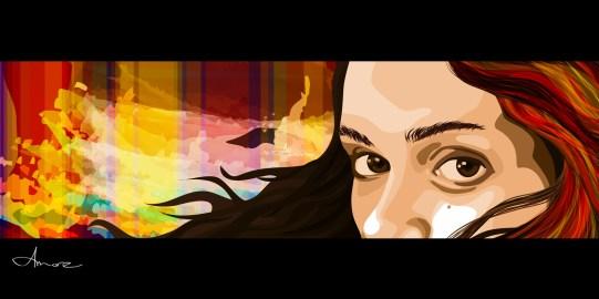 """Amore"" by Alf Sukatmo. Vector artwork. 2014"