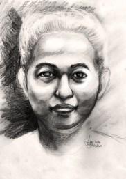 """20 Faces - 2"" Pencil on paper ©Alf Sukatmo 2016"