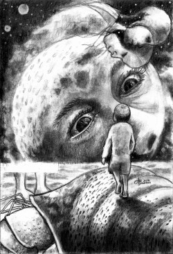"""""""The Imaginary Existence"""" Charcoal on paper ©Alf Sukatmo. 2016"""