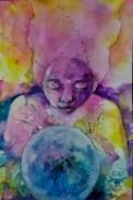 """""""Vivere"""" Watercolor on paper ©Alf Sukatmo. 2016"""