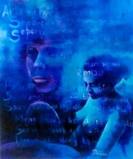 """Silent Symphony IV"" Acrylic on board 65 cm x 78 cm ©Alf Sukatmo. 2017"