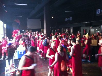 A sea of red!