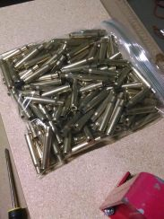 And so it begins. After depriming and cleaning, this pile of .30-06 brass is probably cleaner now than when I fired it.