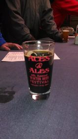 Brought the pack to Aces & Ales after my birthday trail, and look at what they have going. :-)