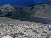 Some ponds formed by snowmelt