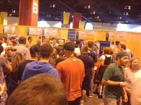 These people are in line for PBR, if you can believe it...or for PBR swag, at least.