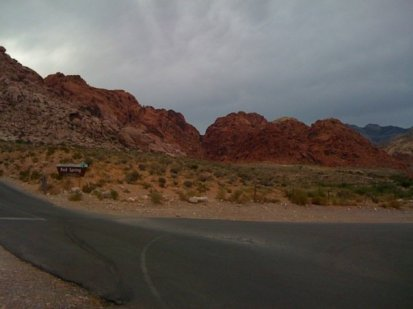 This trail was out by Red Rock, a short distance from the scenic loop back in Calico Basin.