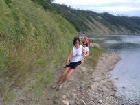Trippy motion distortion caused by trying to take a picture with an iPhone while running