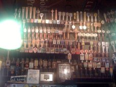 Some of the tap handles they've collected over the years