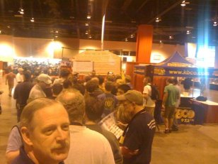 This was the line at the Dogfish Head booth Friday evening *before* the general public was allowed in. (Brewers' passes rock!)
