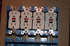 outlets mounted