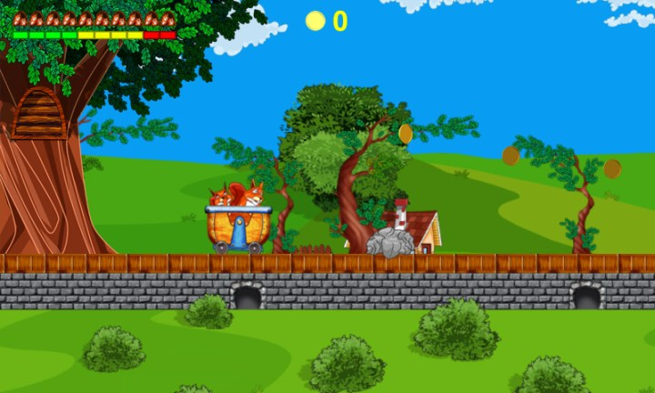 Crazy Squirrels     Adventure in Village Game platform  PC Web Browser  HTML5    Slot machine with rewards   100   Free game