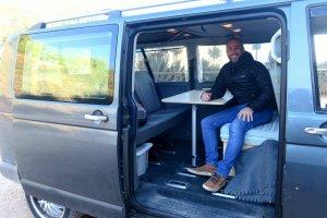 Tom Longhurst and his camper van