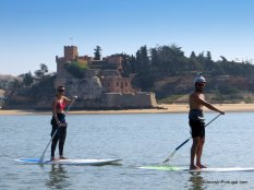 Paddle boarding on the Arade River.