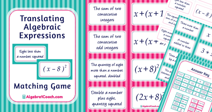 Translating Algebraic Expressions Game