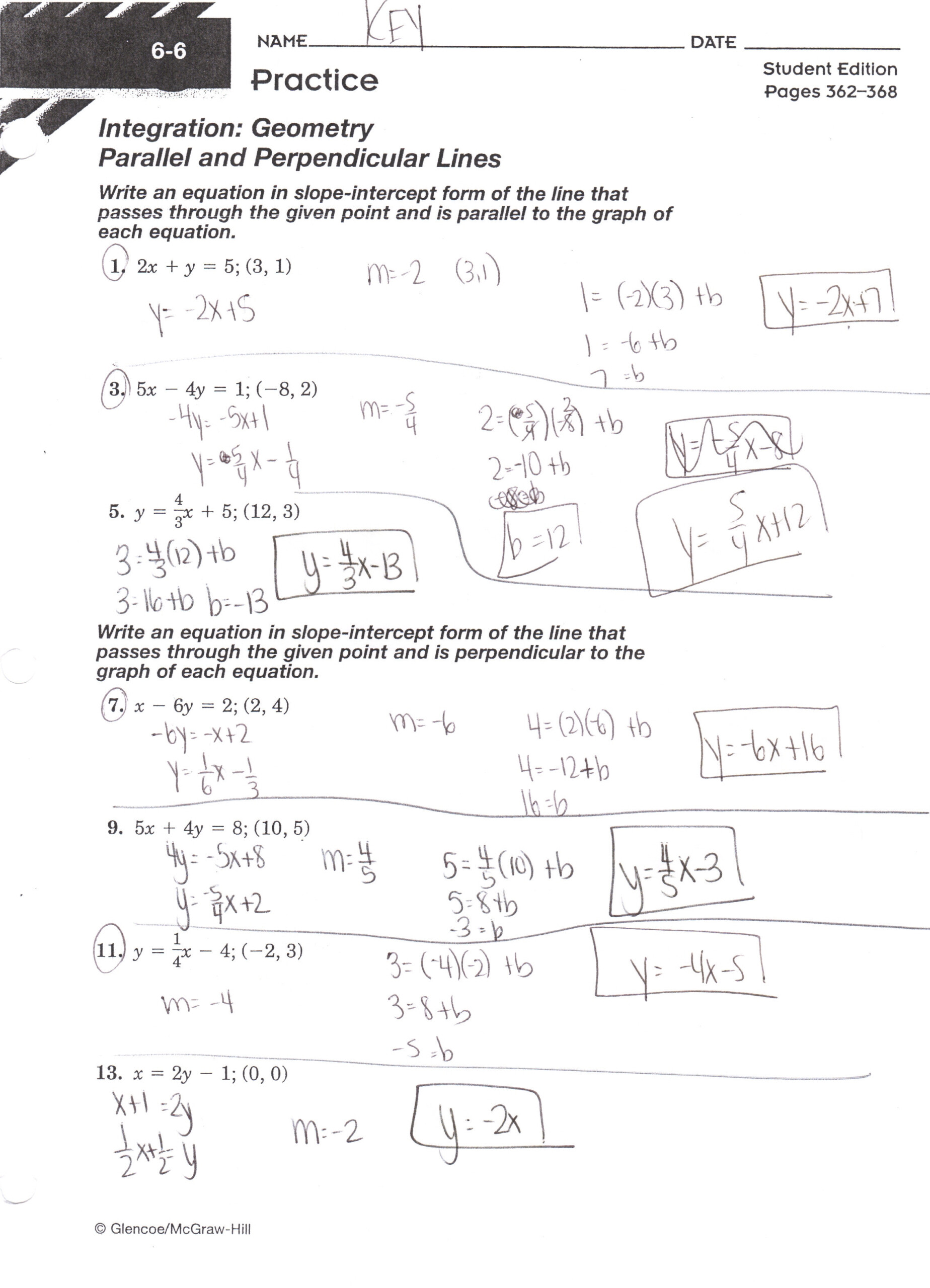 Algebra 1 Worksheet 3 6 Answer Key