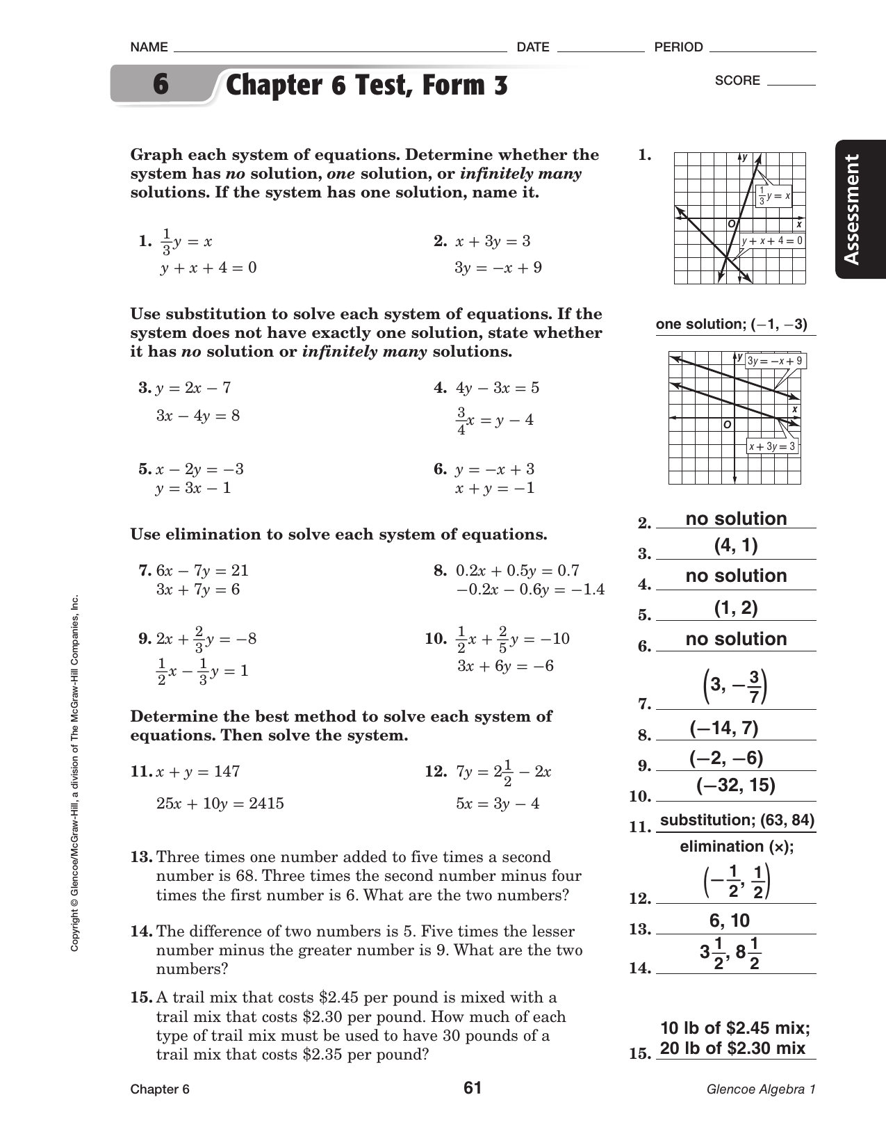 Glencoe Algebra 2 Worksheet Answers
