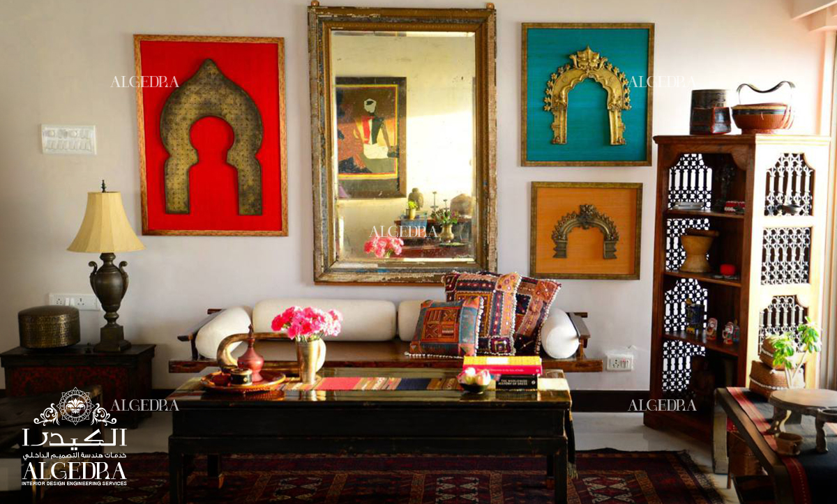Indian Style in Interior Design by ALGEDRA Traditional Indian Living Room Design