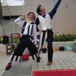 『アルカキット錦糸町での大道芸イベント』サーカスを見た!クラウン(ピエロ)を見た! 僕たちです♪