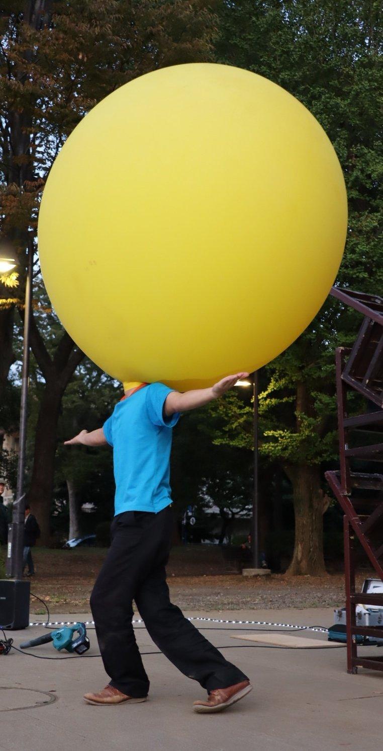 ヘブンアーティストTOKYO2019 大道芸人GEN(ジェン) 上野公園 顔が風船
