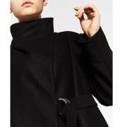 manteau enveloppant noir