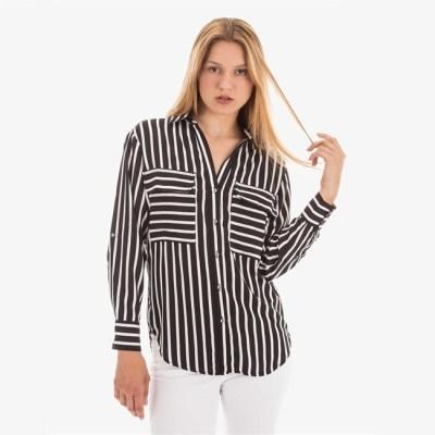 chemise rayée noir et blanc
