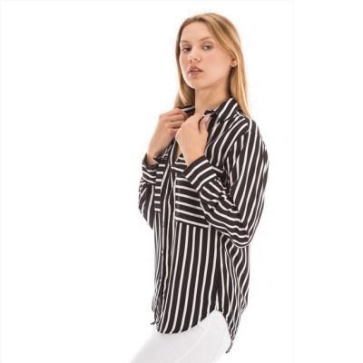 chemise à rayure noir et blanc