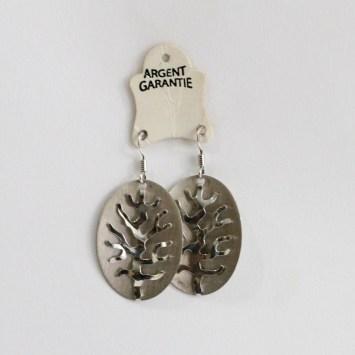 Boucles d'oreilles en argent Arbre