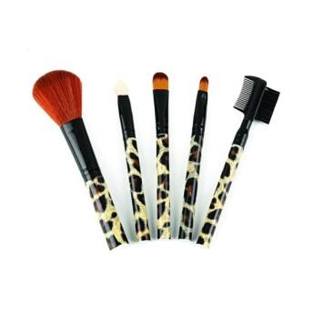 Pinceaux de maquillage imprimé leopard